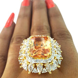 Corona Bold Cast with Crystal CZ Stones Ring