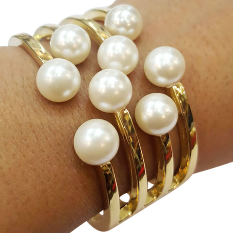 Curio Brunet Pearl Fashion Statement Women Bangles