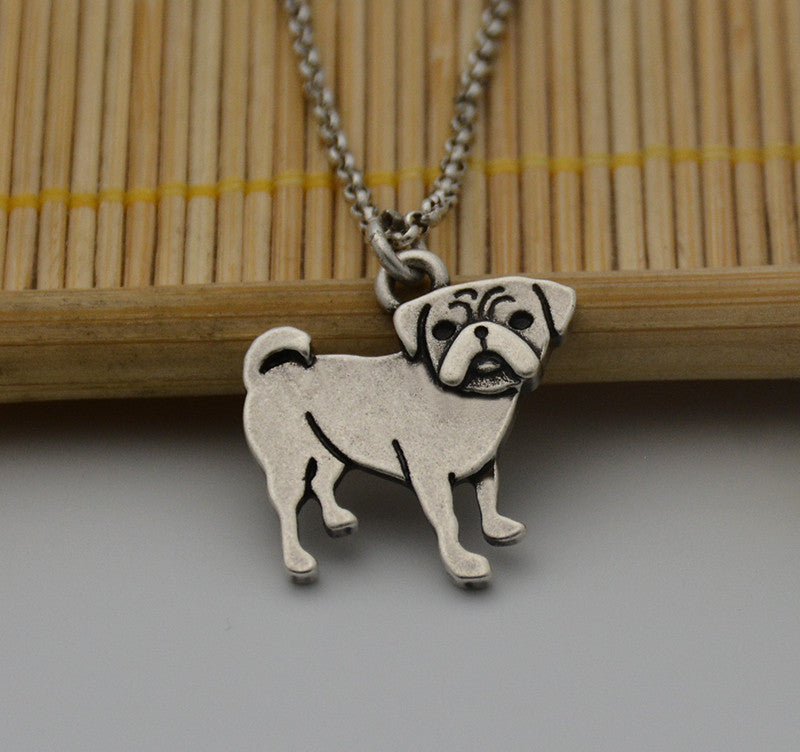 Antique Pup Pug Necklace (The only way to show your LOVE, is to WEAR it)