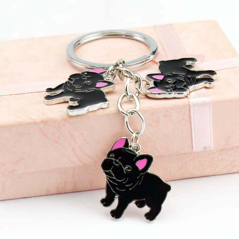 Pup Bulldog Keychain (The only way to show your LOVE, is to WEAR it)