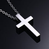 Classic Christ Blank Cross Pendant Men's Necklaces
