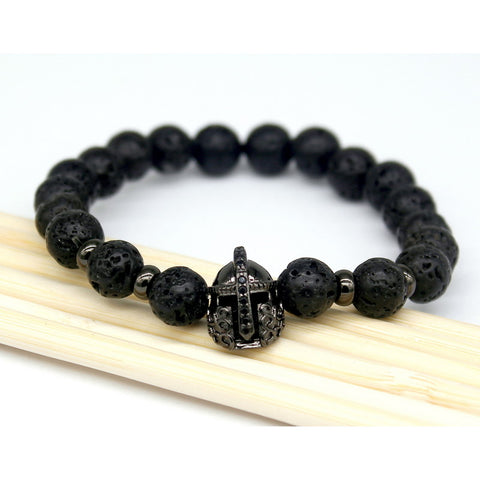 Natural Stone Buddha Bracelets for Men's Attire
