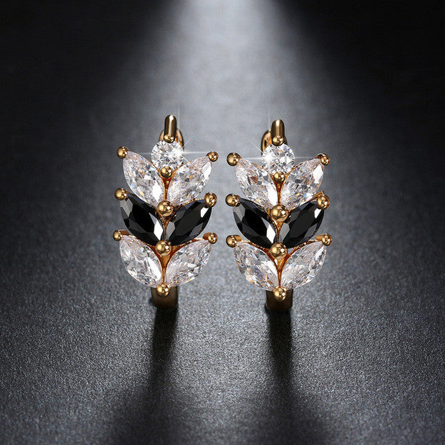 Marquise Cut Cubic Zirconia Earrings in plated Rose Gold