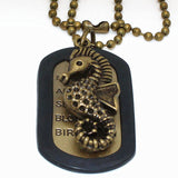 Men's Fashion Vintage Bronze Necklace with Long Chain