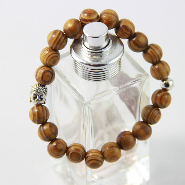 Men's Buddha Mara Prayer Beaded Bracelet