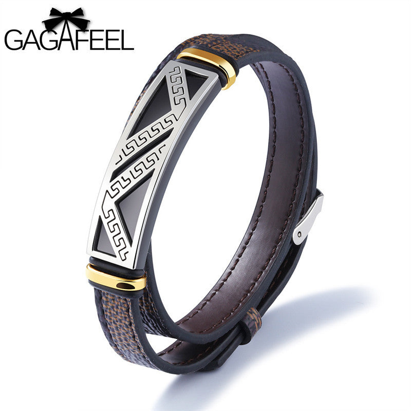 Men's Double Layer Genuine Leather Bracelets