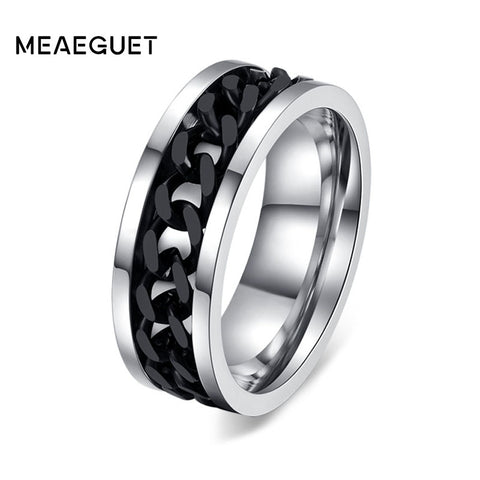 Men's Black Titanium Matte Finished Ring
