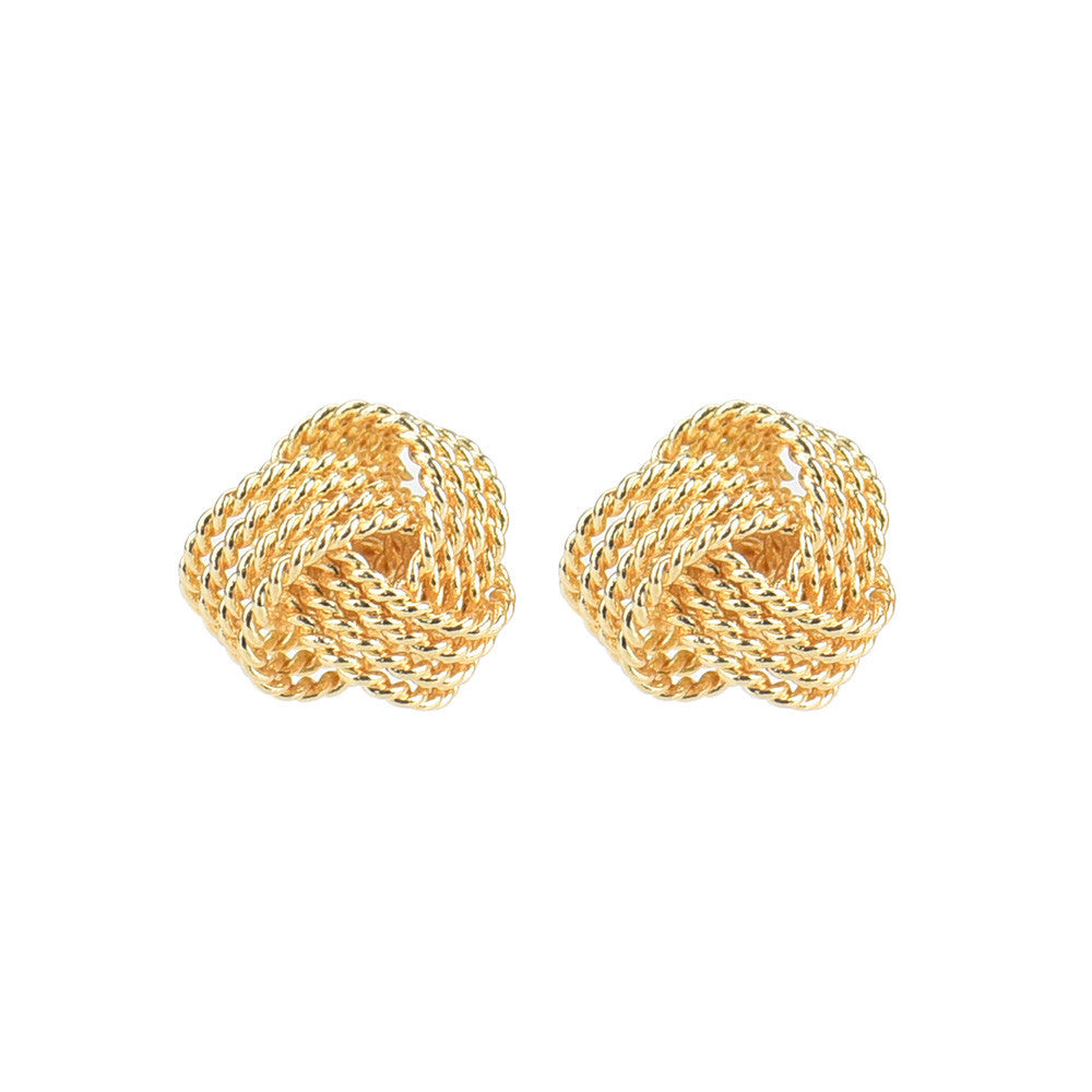 Ball Slide 925 AAA Gold and Silver Platted Ear Stud