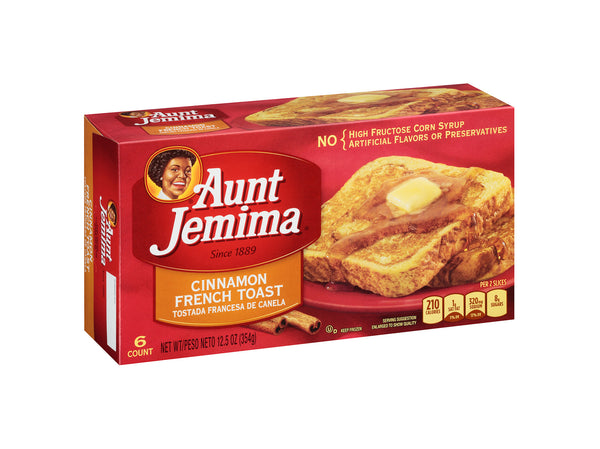 Aunt Jemima Cinnamon French Toast, 6 count, 12.5 oz