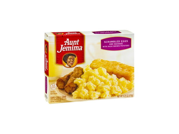 Aunt Jemima w/Hash Brown Potatoes Scrambled Eggs & Sausage, 6.25 Oz