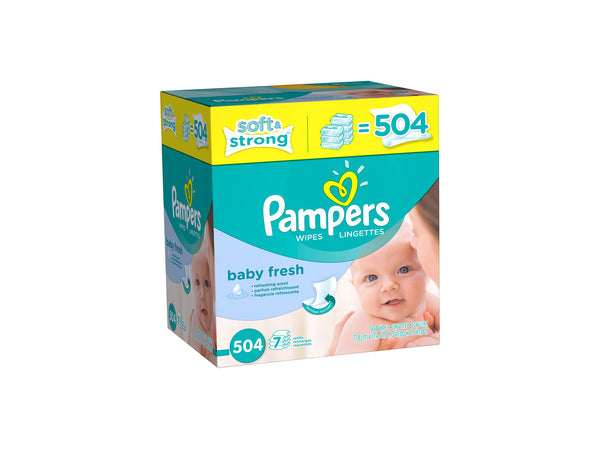 Pampers Baby Fresh Wipes, 504CT