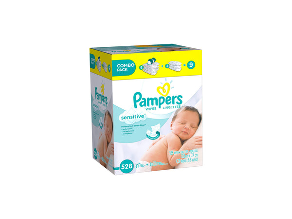 Pampers Sensitive Baby Wipes, 528 sheets