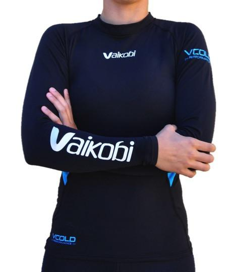Vaikobi VCold Performance L/S Base Layer Top - Unisex - Black/Cyan