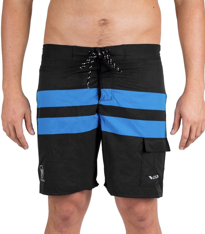 Vaikobi - Paddle Board Shorts - Black/Cyan