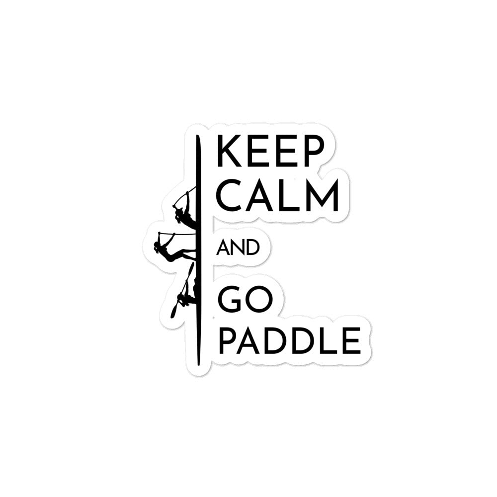 Multi craft Bubble-free stickers - women go paddle