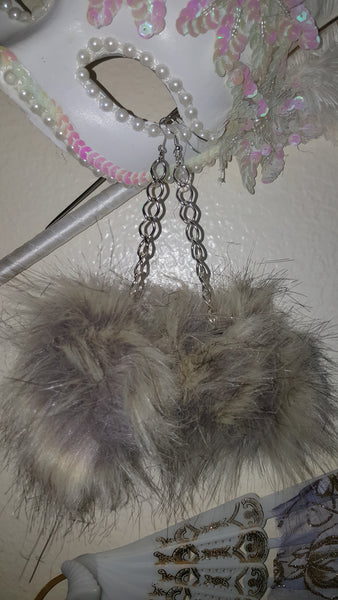 Faux Pom Pom Earrings