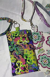 Cell phone wristlets/ KeyRing (fabric)