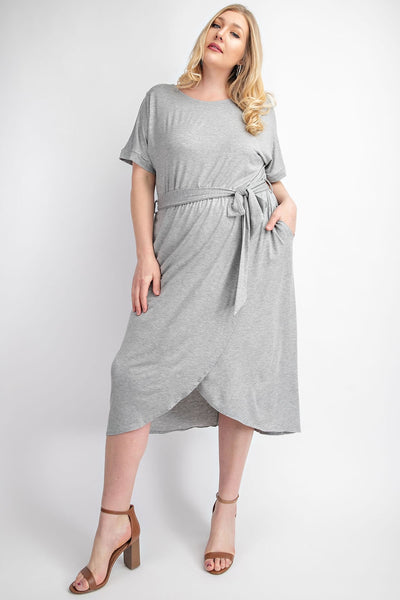 DROP SHORT SLEEVE, CURVY DRESS