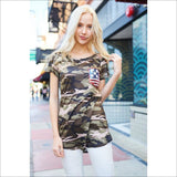 Army Print with Flag Sequin Pocket - Lou Lou Girls Shop