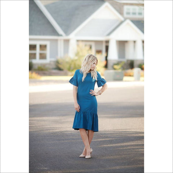 Plus Size Blue Kalliope Dress - Lou Lou Girls Shop