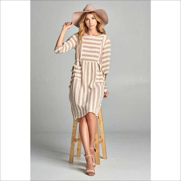 Boho Striped Dress - Lou Lou Girls Shop