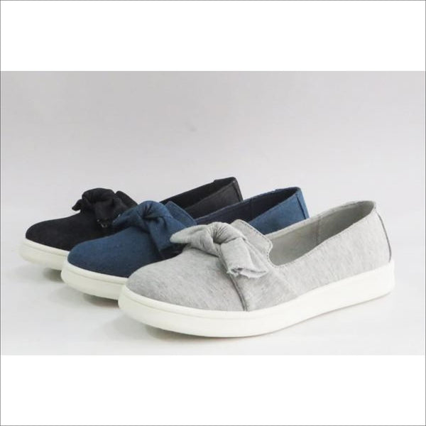 Bow Flats-gray - Lou Lou Girls Shop