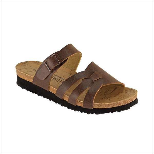 Brown Sandals - Lou Lou Girls Shop