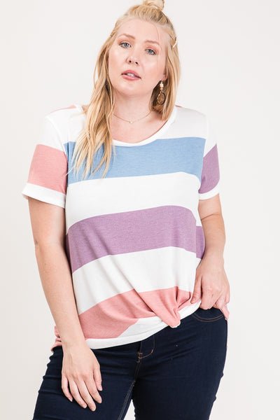 STRIPE KNOTTED TOP