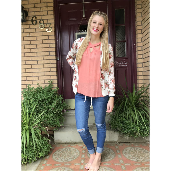 Floral Bomber Jacket - Lou Lou Girls Shop