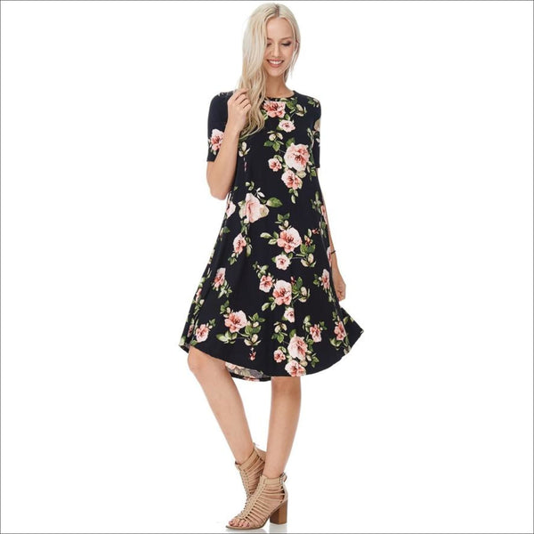 Floral Flared Dress - Lou Lou Girls Shop