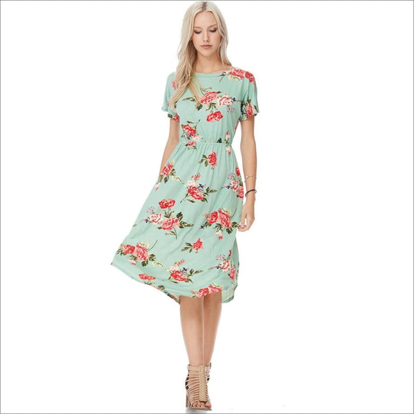 Floral Midi Dress - Lou Lou Girls Shop