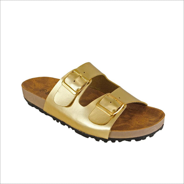 Gold Sandals - Lou Lou Girls Shop