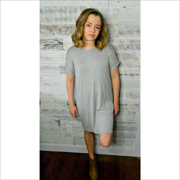 Heather Gray Dress - Lou Lou Girls Shop