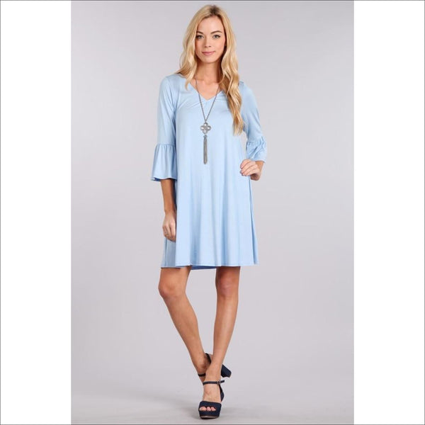 Jersey Knit A-Line Dress - Lou Lou Girls Shop