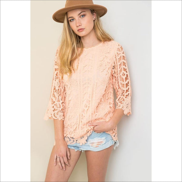 Lace Shell Top - Lou Lou Girls Shop