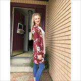 Long Sleeve Floral Cardi - Lou Lou Girls Shop