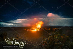 Halemaumau Crater Night