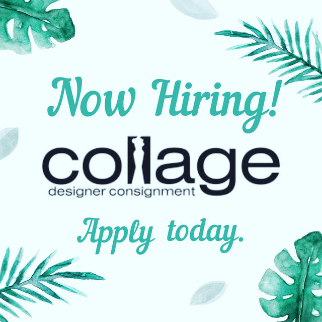 Could you use some extra cash??? Collage has two ways for you to add to your bank account balance! Come work with us OR Come consign with us! We're excited to meet you!