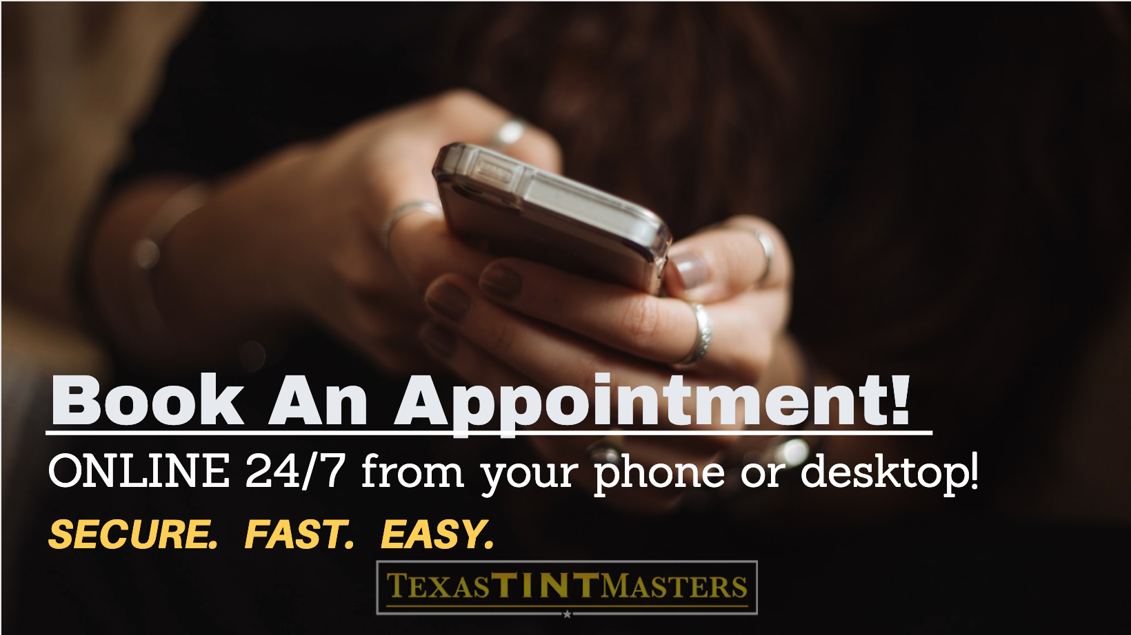 Book Window Tint Appointment Online, Texas Tint Masters, XPEL Houston