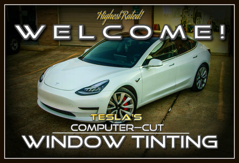 Tesla window tinting with Ceramic Tint by Texas Tint Masters in Houston, TX.