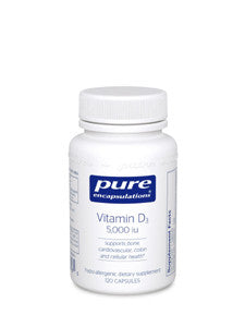 Vitamin D3 5000 IU 120 vcaps Pure Encapsulations