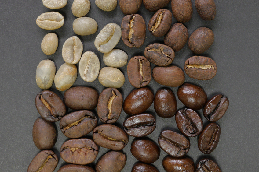 Four types of coffee roasts.