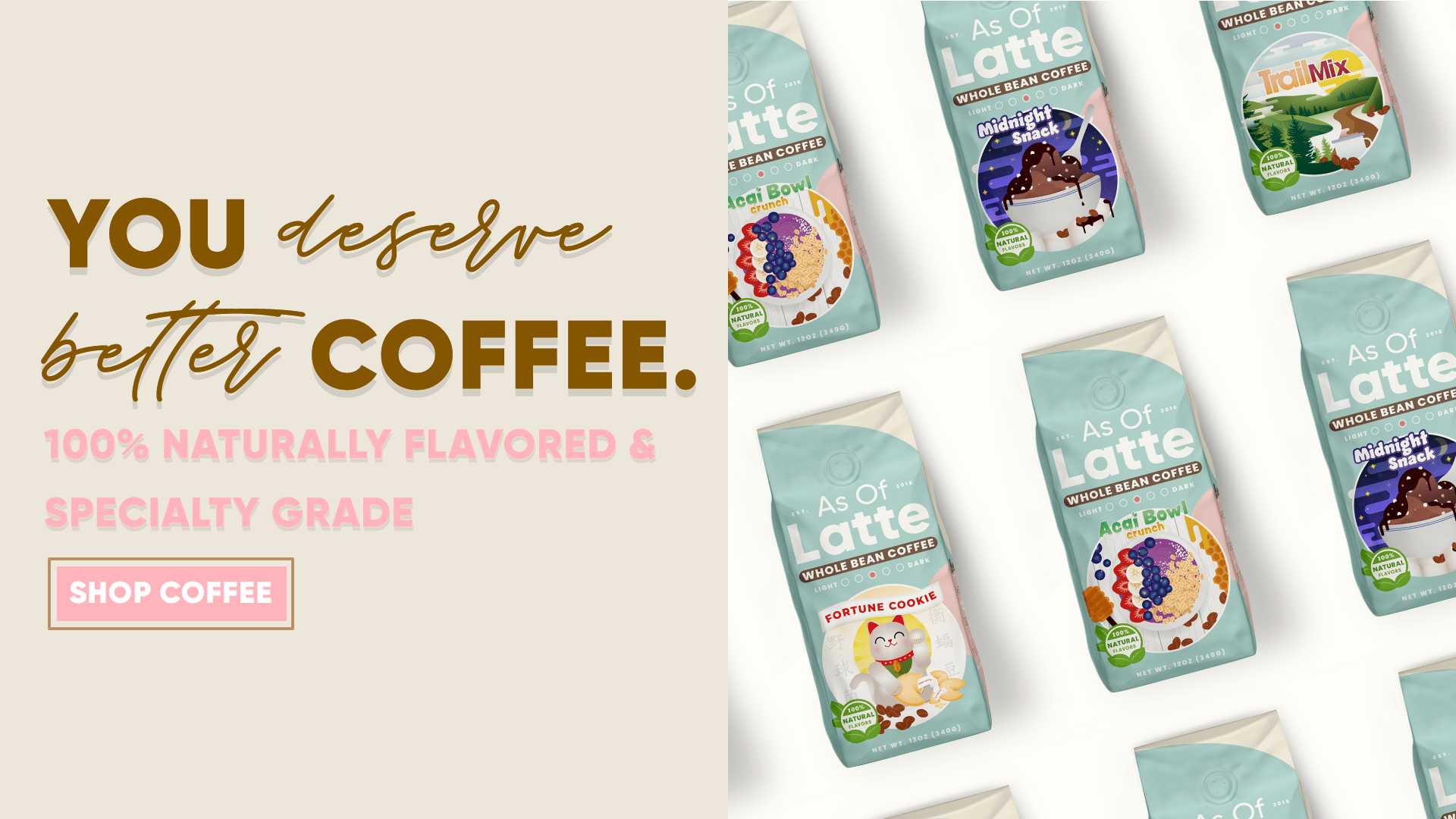 As Of Latte - The Brand For Coffee Lovers - Flavored Coffee
