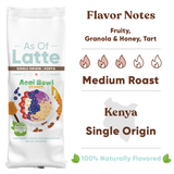 Fun flavored coffee. Single Origin Kenya, Peru, Ethiopia, Brazil. Specialty grade. Freshly roasted to order. 2 oz sample packs. Whole bean coffee and ground coffee. Medium roast. Great gift for coffee lovers.