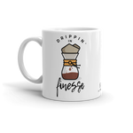 Sturdy white, glossy ceramic 11oz or 15oz mug, with printed graphics. Dishwasher and microwave safe. Funny coffee design. Made in the USA. Inspired by Bruno Mars song and lyrics.