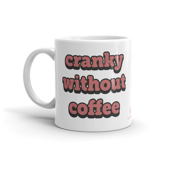 Sturdy white, glossy ceramic 11oz or 15oz mug, with printed graphics. Dishwasher and microwave safe. Funny coffee design. Made in the USA.