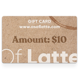 As Of Latte - Gift Card