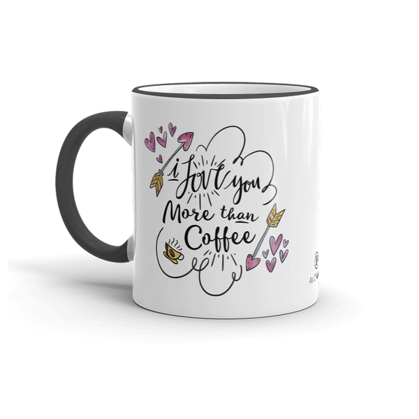 Sturdy white, 11 oz. glossy ceramic mug. Pours and holds the perfect amount of hot or cold beverages, without refills. Brawny ceramic mug withstands heat in the microwave & dishwasher safe. Design inspired by funny quotes about love and Valentine's Day.