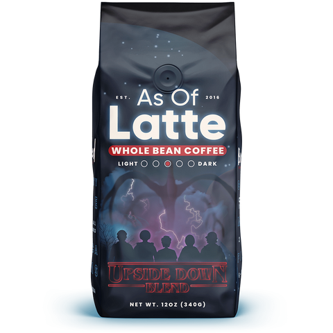 Fun flavored coffee. Single Origin Kenya, Peru, Ethiopia, Brazil. Specialty grade. Freshly roasted to order. 2 oz sample packs. Whole bean coffee and ground coffee. Medium roast. Great gift for coffee lovers. Stranger Things inspired themed coffee.