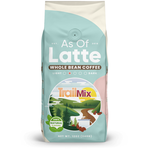 Trail mix flavored coffee. Origin Ethiopia. Specialty grade. Freshly roasted to order. 12 oz. Whole bean coffee. Medium light roast. Great gift for coffee lovers.